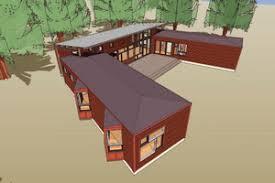 u shaped ranch houses houseplans com