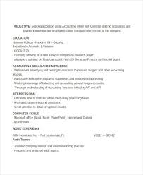 Sample Resume For Accounting Internship by Accounting Intern Resume Sample Resume For Stay At Home Mom