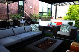 Chicago Patio Design by Garage Rooftop Deck West Town Chicago Urban Rooftops