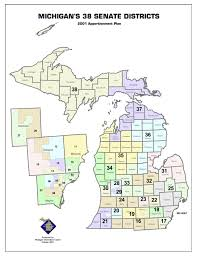 Map Of Northern Michigan by Republicans Release Map Of Proposed Redistricting Of Michigan