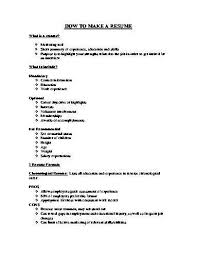 How Do You Write A Resume For Your First Job by Download How To Make A Work Resume Haadyaooverbayresort Com
