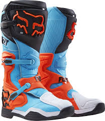 hinged motocross boots fox racing new 2017 mx comp 8 dirt bike blue aqua orange