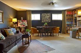 new york basement window treatments eclectic with staircase and