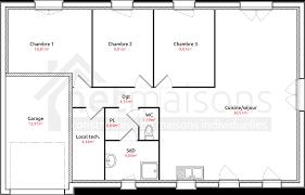 plan maison 3 chambres plain pied garage plan maison 100m2 3 chambres 1 plain pied lzzy co