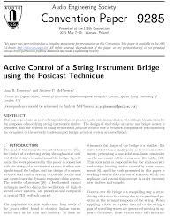 aes e library active control of a string instrument bridge using