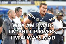 Philip Rivers Meme - monday meme quarterback its a sad weekend in the pacific