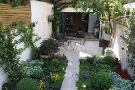 designing a courtyard garden complete with fountain and small pond