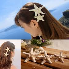 starfish hair clip fashion gold barrettes womens big starfish sea