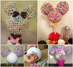 minnie mouse center pieces wonderful diy minnie mouse lollipop tree
