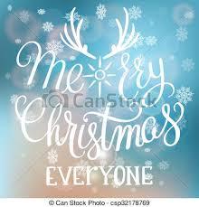 clip vector of merry everyone handwritten text on