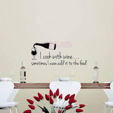 vinyl mural cuisine cuisine stickers i cook with wine vinyl wall sticker decals mural