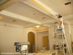 What Is A Coffered Ceiling by Great Room Wood Coffered Ceiling The Homebuilding Remodel Guide