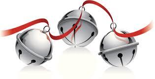 silver sleigh bells strung on a ribbon sleigh bells ring