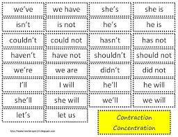 200 best contractions abbreviations images on pinterest grammar