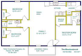 Construction Floor Plans by Tinker Construction Company Inc Floor Plans