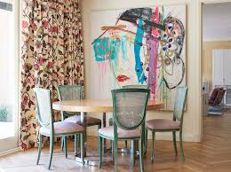 Eclectic Dining Room Chairs Pink Dining Chairs Eclectic Dining Room Ashley Whittaker Design
