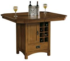 Mission Oak Dining Chairs Mission Oak Pub Table Classic Wood Dining Furniture With Wine