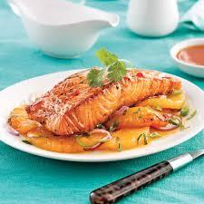 cuisiner pavé de saumon au four saumon et ananas grillés lime et ail soupers de semaine recettes