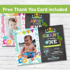 Birthday Invitation Cards For Kids First Birthday Beach 1st First Birthday Invitation Boy Or Summer Pool