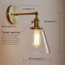Wall Sconces With Switch Permo Industrial Wall Sconce Lighting With On Off Switch Funnel