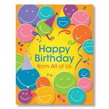 happy birthday faces birthday card