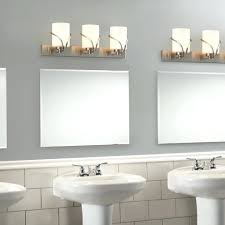 led bathroom vanity lights home depot kichler barrington 3 light 9