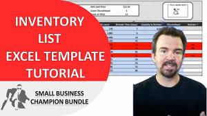 Inventory List Excel Template Inventory Spreadsheet Template Excel Product Tracking Youtube