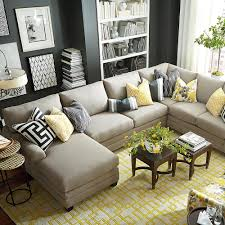 Grey Modern Sofa by Living Room Sectional Couches With Some Accessories Wall And