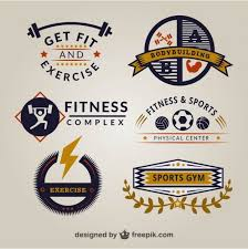retro gym logo templates vector free download