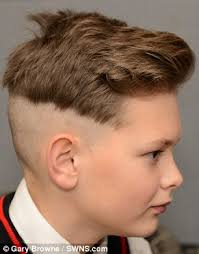 shaved back and sides haircut schoolboy 12 banned from the classroom because of his diy joey