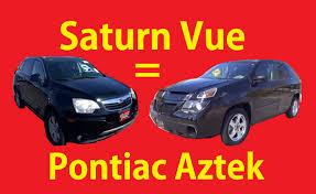 pontiac aztek red saturn vue u003d new pontiac aztek video comparison suv cuv hybrid