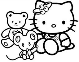 kitty valentines coloring pages