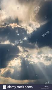 sun through clouds stock photo 48777302 alamy