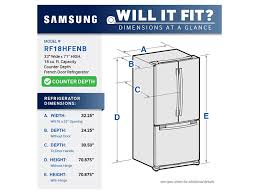 Samsung French Door Reviews - 18 cu ft counter depth french door refrigerator refrigerators