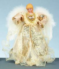 30cm large gold fairy angel christmas tree topper top decoration