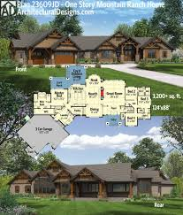 cabin house plans covered porch home design plan 23609jd one story