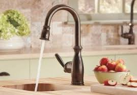 moen brantford kitchen faucet rubbed bronze moen 5985orb brantford one handle high arc pulldown bar faucet