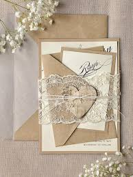 wedding invitations lace rustic lace wedding invitation calligraphy wedding invitations