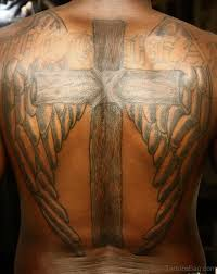 97 stunning cross tattoos for back