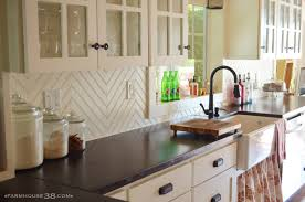 How To Paint Tile Backsplash In Kitchen Diy Chevron Beadboard Backsplash U2013 Farm And Foundry