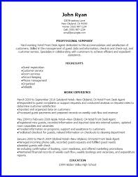 Front Desk Hotel Resume Hotel Front Desk Resume Sample Front Desk Medical Receptionist