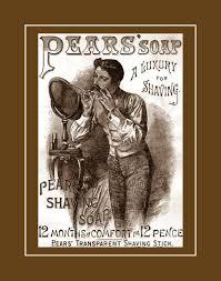 arleyart com vintage pears shaving soap ad mens bathroom