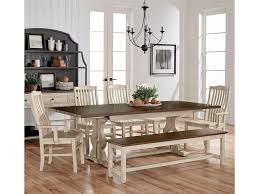 Dining Room Table Set With Bench Artisan U0026 Post By Vaughan Bassett Simply Dining 7 Piece Solid