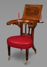 Reading Chair Rosewood And Brass Inlaid Regency Library Reading Chair