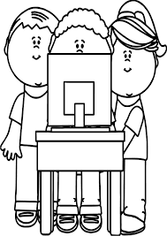 kids playing computer games coloring page wecoloringpage