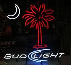palm tree neon light new bud light palm tree moon beer neon light sign 20 x16 ebay