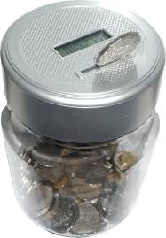 digital money box piggy bank large coin counting jar change
