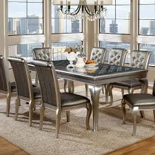 84 inch dining table furniture of america mora contemporary chagne 84 inch dining
