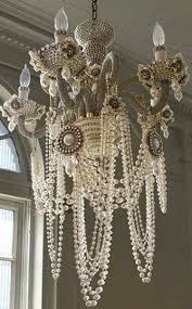 Shabby Chic White Chandelier Amazing Shabby Chic Chandelier White Shab Chic Chandelier