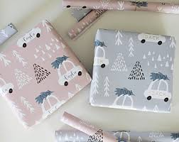 custom gift wrapping paper gift wrap etsy